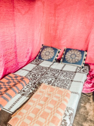 Sleeping in tents in the Desert - Merzouga