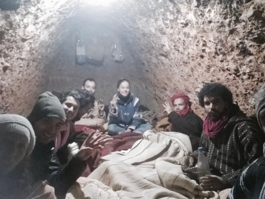 Sleeping in the cave