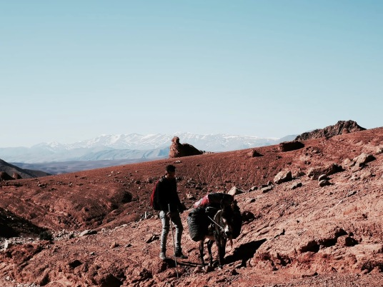 Hiking up to the nomads