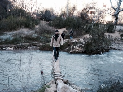 Crossing the Dades river